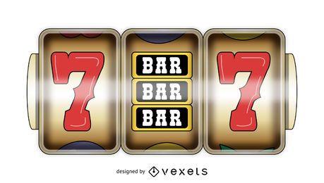 Exibição de jogo de slot de cassino