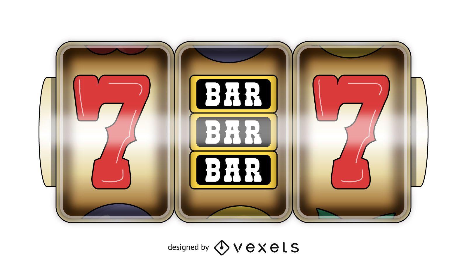 Casino slot game display