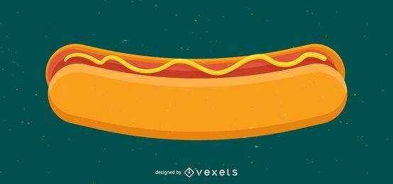 Ilustração de salsicha de cachorro-quente