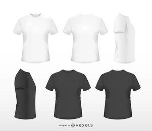 Conjunto de t-shirt realista