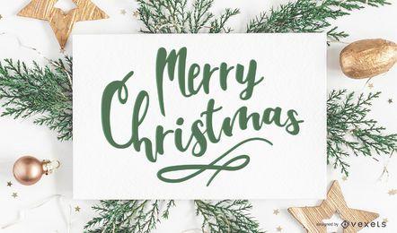 Diseño de saludo de feliz Navidad