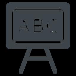 Abc pizarra icono plana