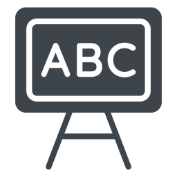 Ícone plana de lousa de ABC