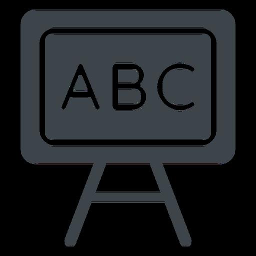 Ícone plana de lousa de ABC Transparent PNG