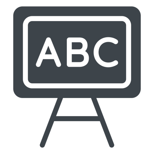 Abc chalkboard flat icon Transparent PNG