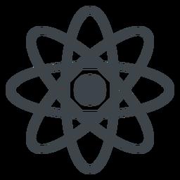 Ícone de escola plana de átomo