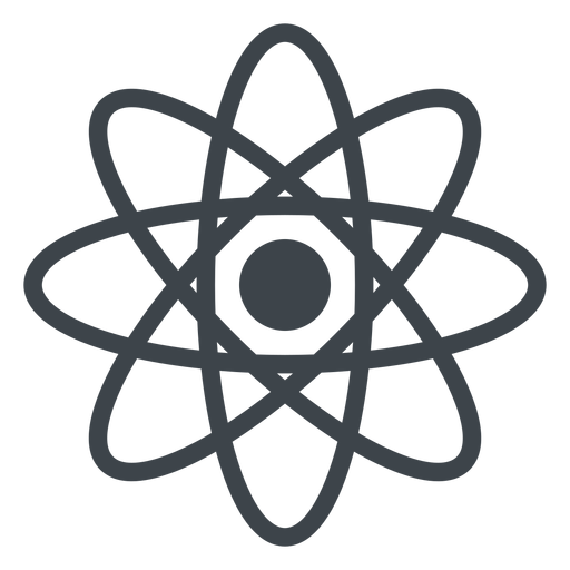 Atom flat school icon Transparent PNG