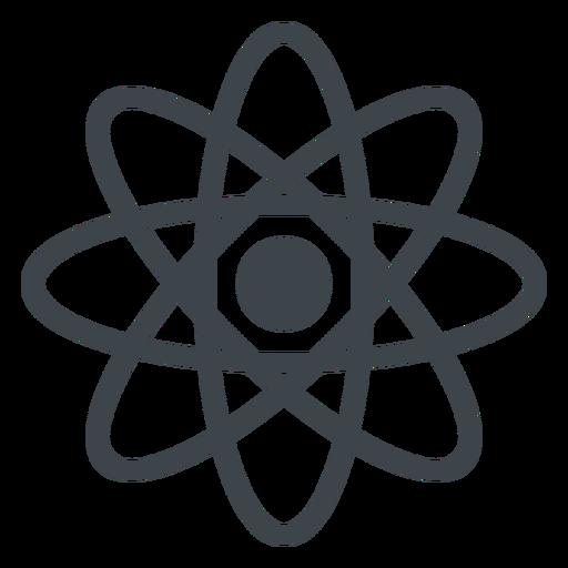 Icono de la escuela plana Atom Transparent PNG