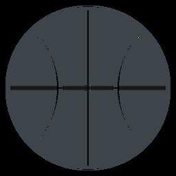 Icono de la escuela plana de pelota de baloncesto