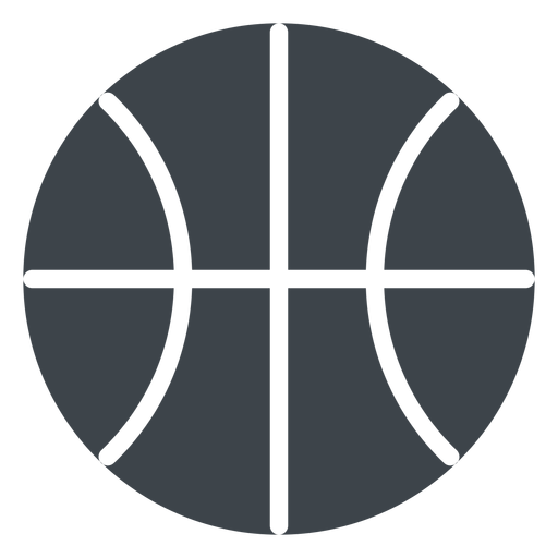 Basketball Ball flach Schule Symbol Transparent PNG