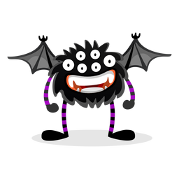 Bat spider monster illustration