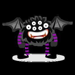 Ilustración de monstruo de araña murciélago