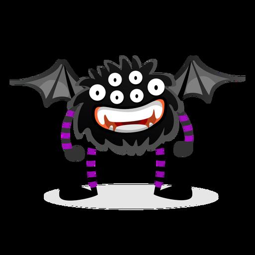 Ilustración de monstruo araña murciélago Transparent PNG