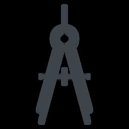 Icono de la escuela plana brújula arco