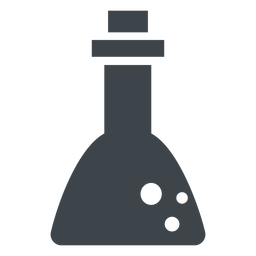 Chemistry flask flat icon