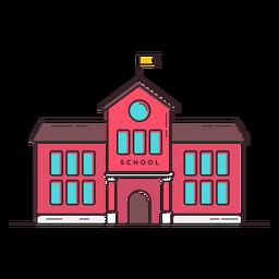 Ícone do edifício da escola clássica