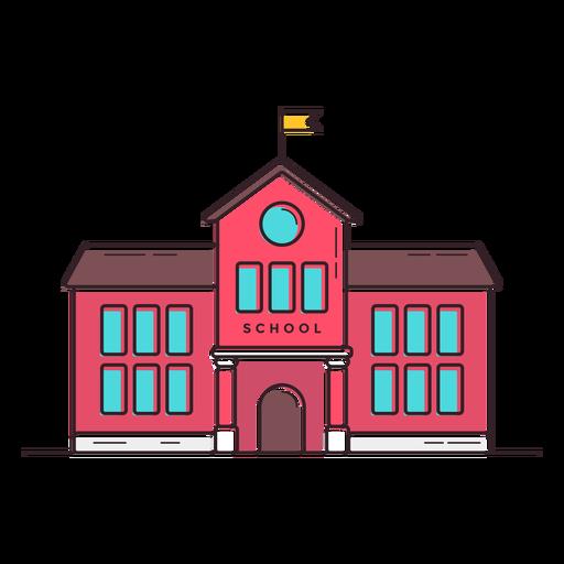 Ícone do edifício da escola clássica Transparent PNG
