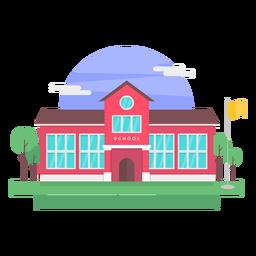 Ilustração de construção de escola clássica