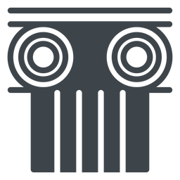Columna capital icono de escuela plana