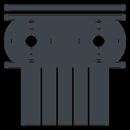 Ícone de escola plana de capital de coluna