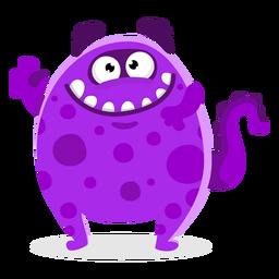 Cute monster waving illustration