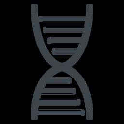 Icono de escuela plana de cadena de ADN