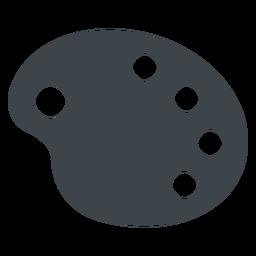 Paleta de dibujo plano icono de escuela