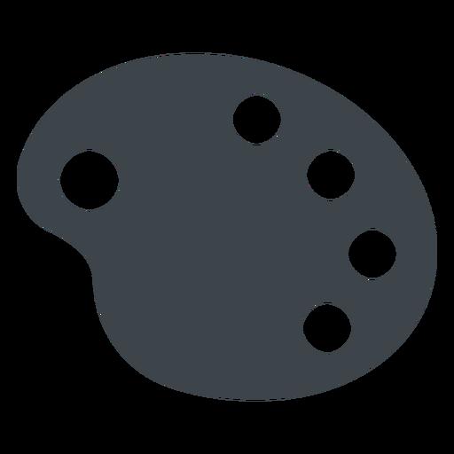 Drawing palette flat school icon