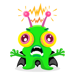 Electric monster illustration