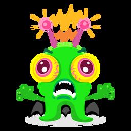 Ilustración de monstruo eléctrico