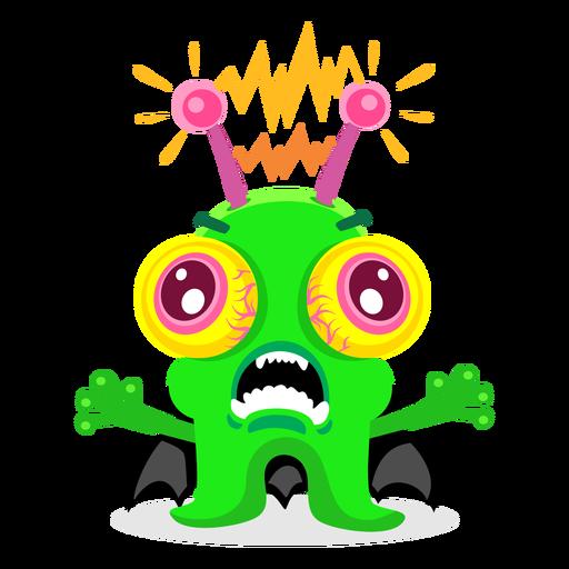 Electric monster illustration Transparent PNG