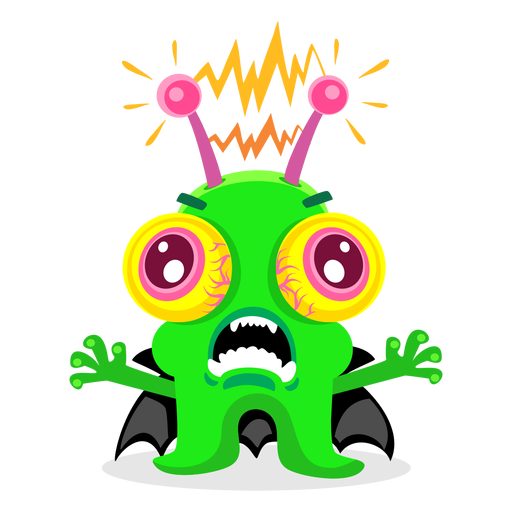 Ilustración de monstruo eléctrico Transparent PNG