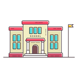 Elementary school building icon