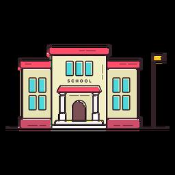 Escola primária, predios, ícone