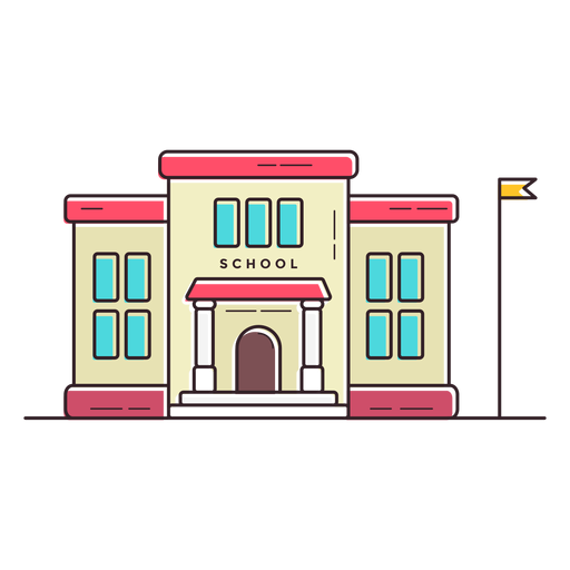 Elementary school building icon Transparent PNG