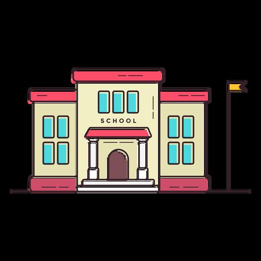 Icono de edificio de escuela primaria Transparent PNG