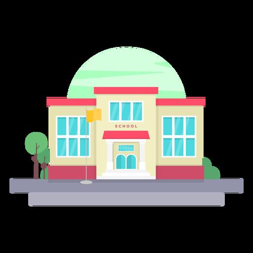 Ilustração de construção de escola primária Transparent PNG
