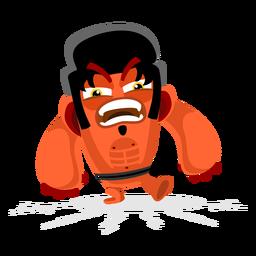 Elvis pelo monstruo ilustración