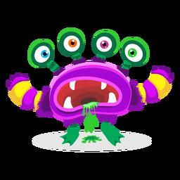 Ilustración de monstruo de cuatro ojos