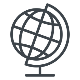 Geographie Globus flach Schule Symbol