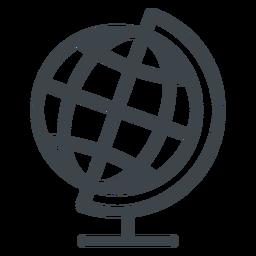 Icono de escuela plana de globo de geografía