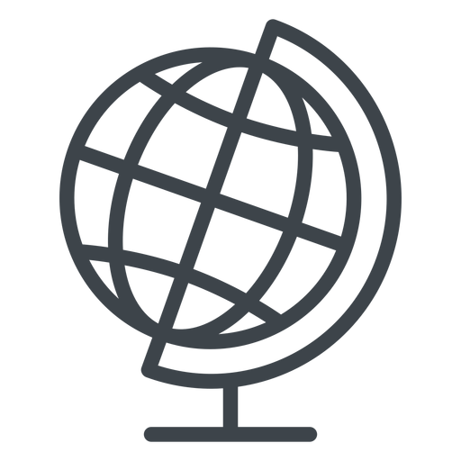 Geography globe flat school icon Transparent PNG