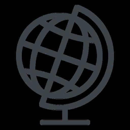 Geography globe flat school icon
