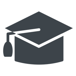 Graduation hat flat school icon