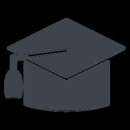 Icono de escuela plana de sombrero de graduación