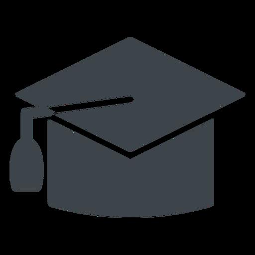 Ícone de escola plana de chapéu de formatura Transparent PNG