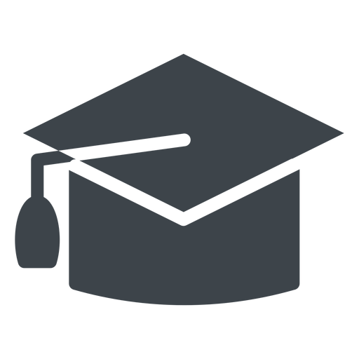 Graduation hat flat school icon - Transparent PNG & SVG ...