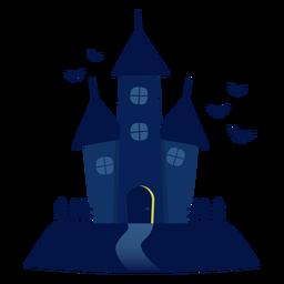 Ilustración de la casa encantada de Halloween