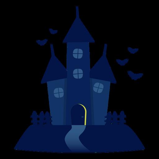Dia das Bruxas assombrado ilustração da casa Transparent PNG