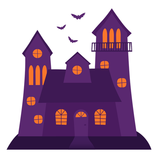 Halloween spooky house illustration Transparent PNG